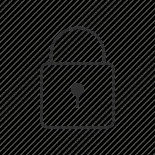key lock, lock, locked, safe, secure, security icon