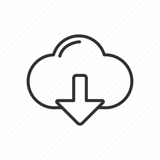 cloud, cloud transfer, downlink, download, file download icon
