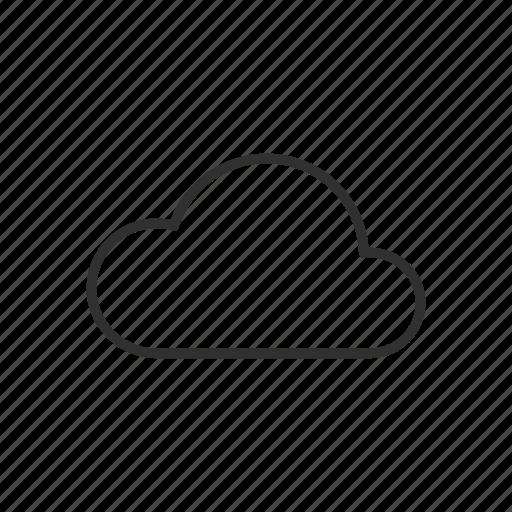 cloud, cloud computing, cloud services, cloudy, simple cloud, single cloud icon