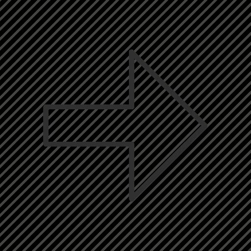 after, ahead, forward, last, next, onward, right arrow icon