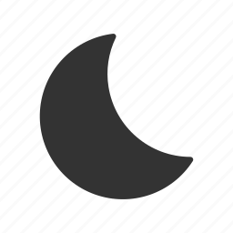 dark, half moon, moon, night, time, time of a day, weather icon
