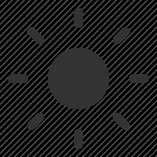 day, day glyph, shine, sun, sun glyph, sunny, weather icon