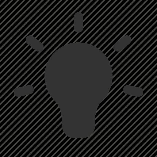 bulb, bulb glyph, idea, idea glyph, light bulb, lightbulb, think icon