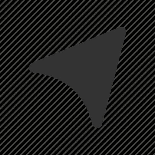 destination, direction, location, navigation, navigation glyph, pointer, pointer glyph icon