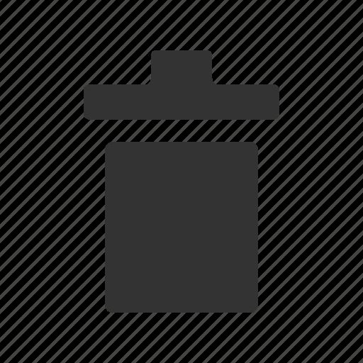 bin, bin glyph, delete, delete glyph, remove, trash, trash bin icon