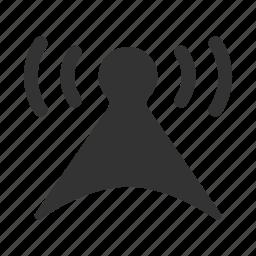 communication, communication pole, media, multimedia, network, signal, signal tower, wave icon