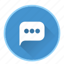 chat, message, speech, talk icon