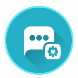chat, configuration, message, setting, speech, talk icon
