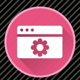 application, browser, configuration, development, setting icon