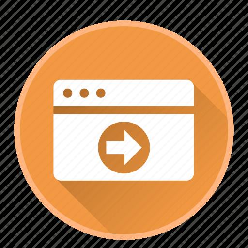 application, browser, configuration, developmentarrow icon