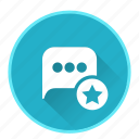 bookmark, chat, communication, email, favorite, mail icon