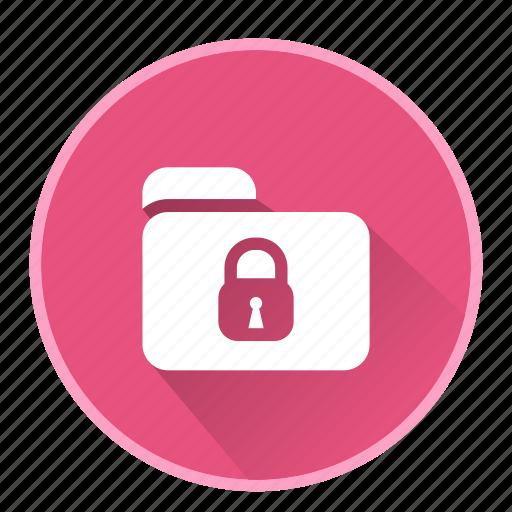 document, file, folder, lock, office icon