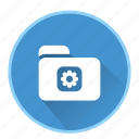 document, file, folder, office, setting icon