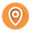 bookmark, location, map, marker, navigation