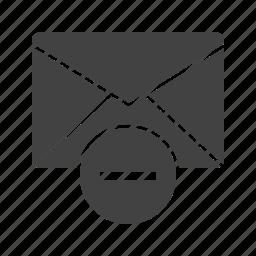 delete, envelope, letter, mail, message, remove, web icon