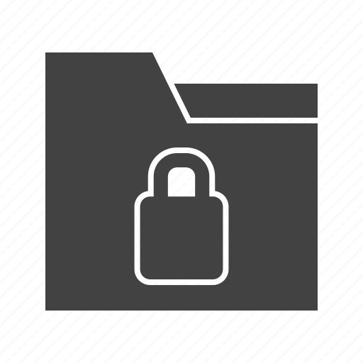 access, confidential, data, document, folder, lock, security icon