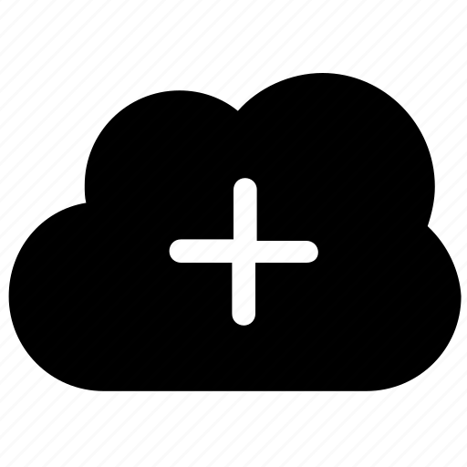 add cloud, cloud computing, cloud hosting, wireless network icon