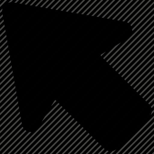 arrow, arrow hint, arrow pointing, directional arrow, up left icon