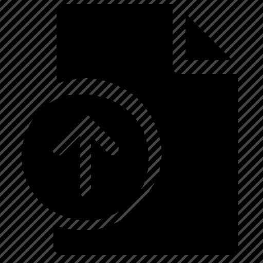 arrow sign, file, file uploading, up arrow, upload file icon