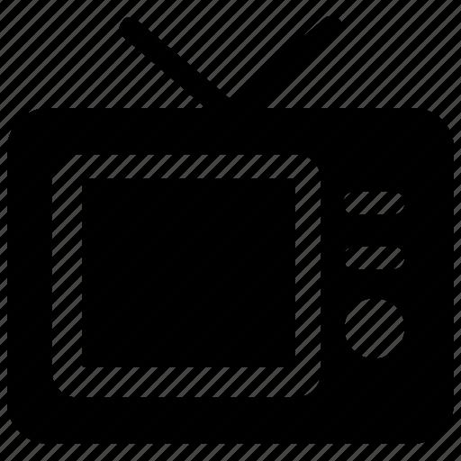 antenna television, multimedia, tv, tv screen, vintage tv icon