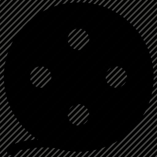 audiovisual, camera reel, film reel, movie reel, multimedia icon