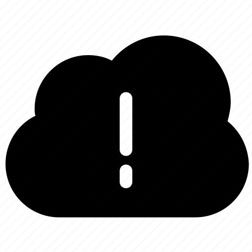 cloud computing, cloud error, cloud warning, exclamation mark, storage cloud icon