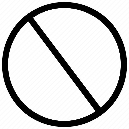 ban sign, not allowed, prohibit, prohibition, stop symbol icon