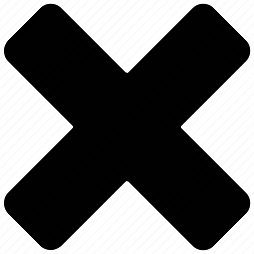 basic math, calculation, cancel sign, delete, multiply sign icon