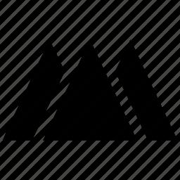 drawing, geometrical design, geometry shape, triangular hills, triangular shape icon