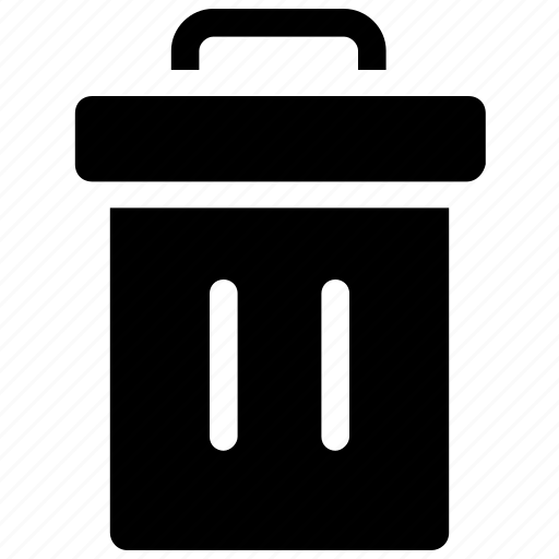 dustbin, garbage bin, garbage can, garbage container, trash can icon