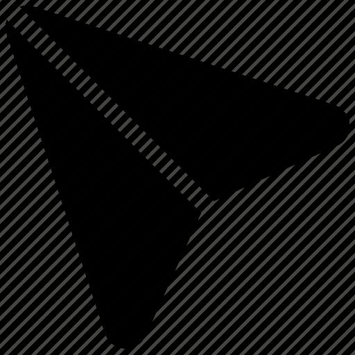 flight symbol, handmade plane, origami, paper plane, toy aircraft icon