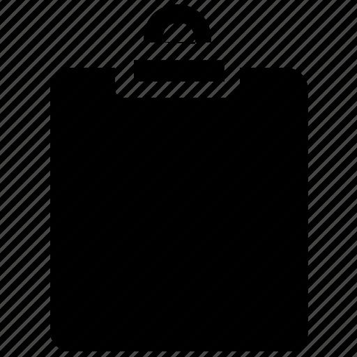 blank paper, clipboard, document, letterhead, school supply icon