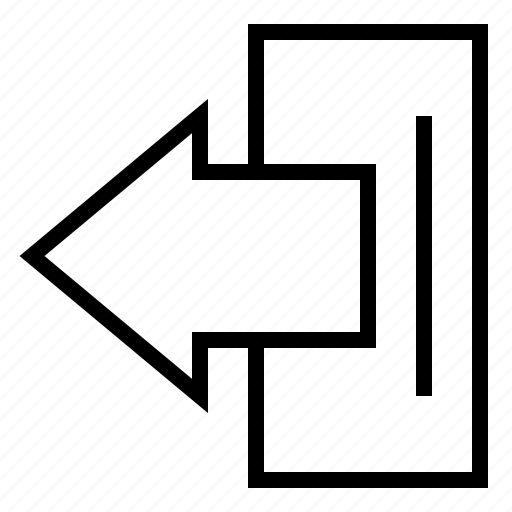 arrow, exit, left, logout icon