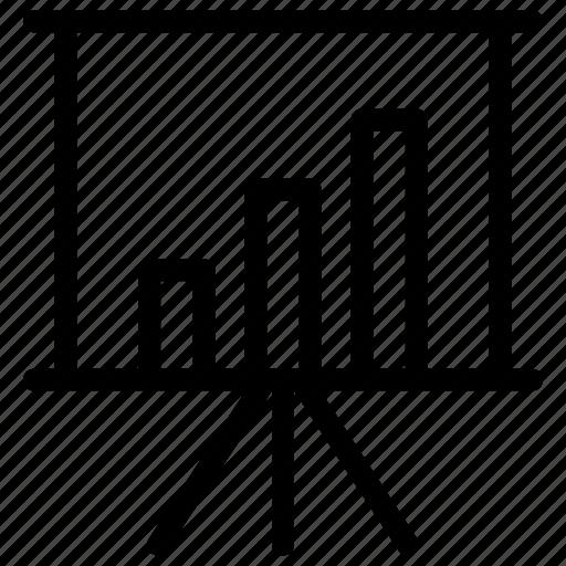 board, chart, presentation, statistics icon