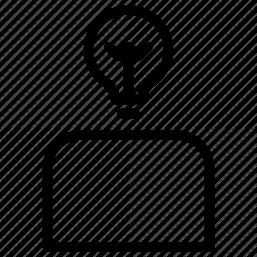 creativity, idea, person, user icon
