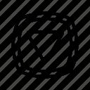 arrow, direction, down, navigation, ui
