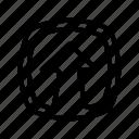 arrow, ui, up, upload