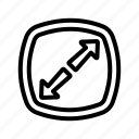 arrow, expand, fullscreen, maximize, ui