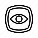 eye, ui, view, vision, read mode icon