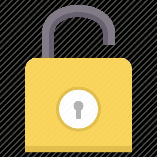 lock, open, padlock, password, secure, security icon
