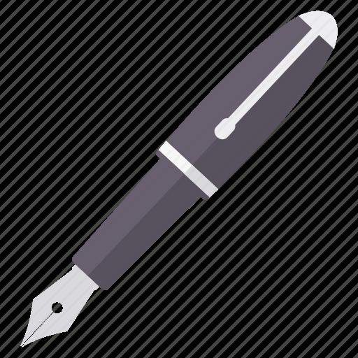 document, drawing, nib, pen, write, writing icon