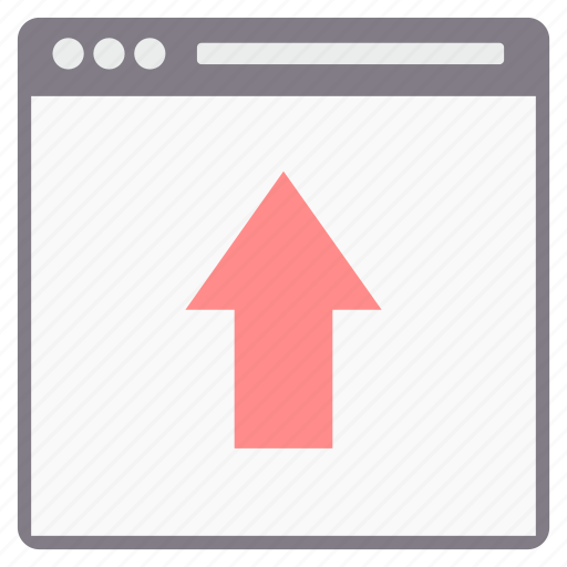 arrow, design, direction, page, up, web, webpage icon