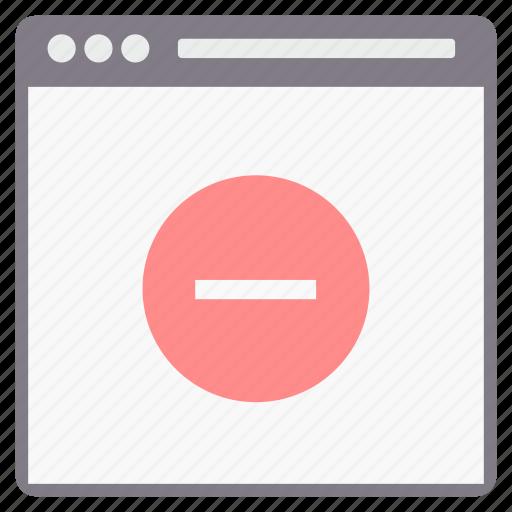 design, minus, page, web, webpage icon