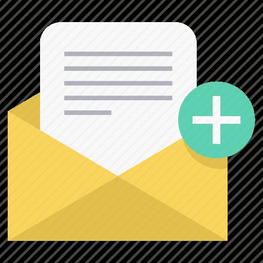 envelope, letter, plus, positive, report icon