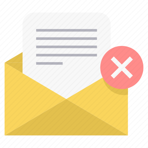 cancel, email, envelope, mail, multiply, report icon