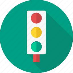 light, lights, road, sign, traffic, transport icon