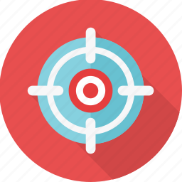 aim, bullseye, focus, goal, shooting, target icon