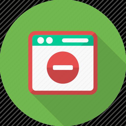 design, document, minus, page, paper, web, website icon