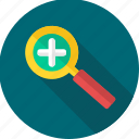 magnifier, magnifying, seo icon