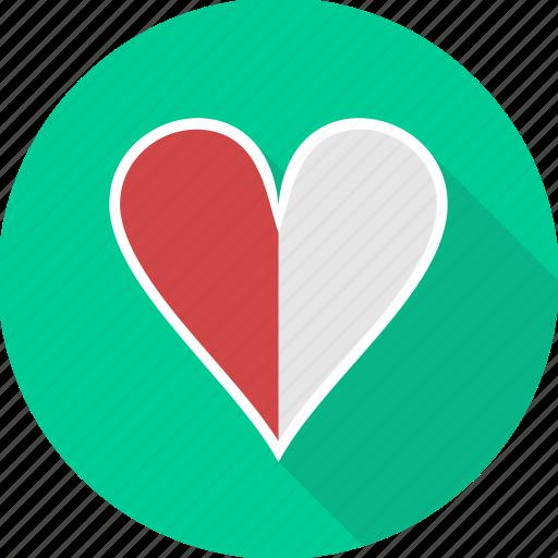 favorite, heart, love, romantic, sign, valentine icon